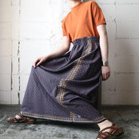 Arabesque Pattern Flared Skirt BLOR