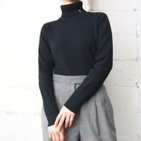 LAUREN Turtle Neck Rib Knit BK