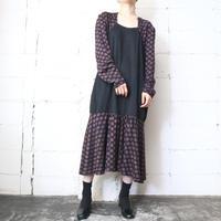Square Neck Flower × Dot Dress BKPI