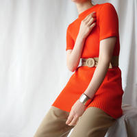 70's Short Sleeve Rib Knit OR