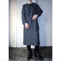 Crazy Pattern Stripe Dress NVGR