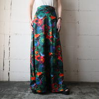 Paint Flower Pattern Skirt BK