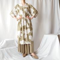 Leaf Pattern Cashcouer Dress BE