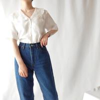 Ralph Lauren Lace Collar Linen Blouse WH
