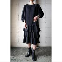 Pleated Tiered Dress BK