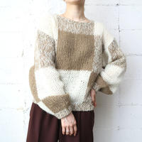 Checked Mohair Mix Sweater BEIV