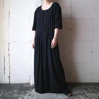 Pleated Bodice Wide Silhouette Dress BK