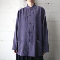 Silk China Shirt Jacket PUR
