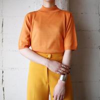 Mock Neck Short Sleeve Knit OR