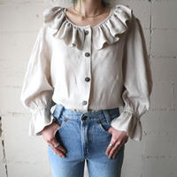 Raffled Collar Tyrolean Blouse BE