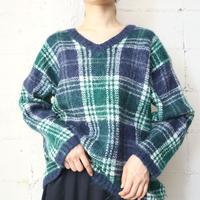 Check Mohair Sweater NVGR