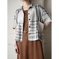 70's Linen Check Shirt BEBK