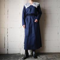 Lace Collar Linen Dress BL