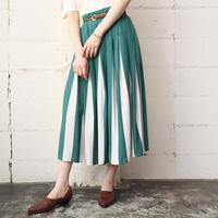 Stripe Flared Skirt GR