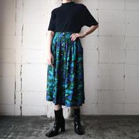 Paint Pattern Flared Skirt BL