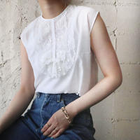 Sleeveless Front Lace Blouse WH