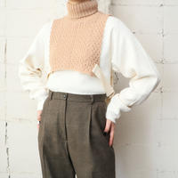 Side String Removable Turtle Neck Knit BE