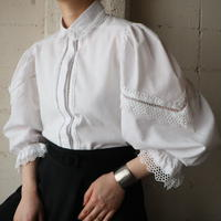 Volume Sleeve Cutwork Blouse WH