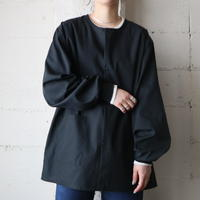 Collarless Shirt Jacket BK