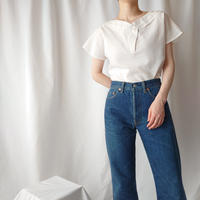 Pleated Design Pullover Shirt WH