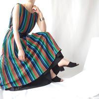 Rainbow Color Crochet Dress