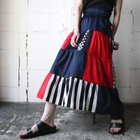 Tricolor Color Design Skirt NVRE