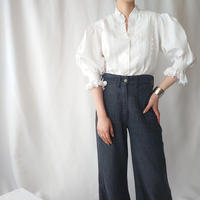 70's Tyrolean Candy Sleeve Blouse WH