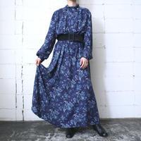 Botanical Pattern Dress BLNV