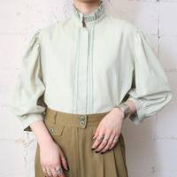 Frilled Stand Collar Blouse LGR