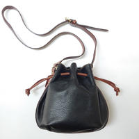 COACH Shrink Leather Shoulder Bag BKCM