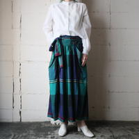 Ribbon Belted Plaid Skirt NVGN