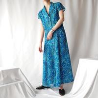 Sheer Flower Pattern Dress BL