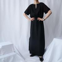 Desigh Sleeve Linen Dress BK