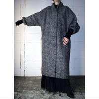 Long Rib Tweed Coat BKWH