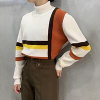 Line Design Turtle Neck Sweater IVOR