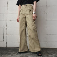 70's Design Pocket Flared Pants BE