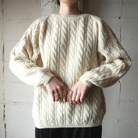 Hand Knit Cable Sweater IV