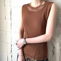 Mesh Design Sleeveless Knit BR
