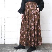 Botanical Pattern Rayon Skirt BKBR