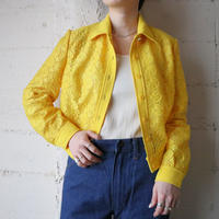 1970's EURO Flower Embroidery Blouse YE