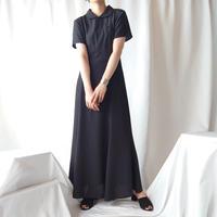 Round Collar Dot Dress BK