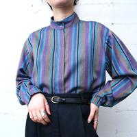 Stand Collar Stripe Shirt BEGRPUR