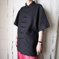 Short Sleeve China Shirt BK