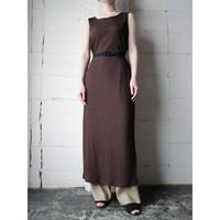 Side Slit Sleeveless Dress BR