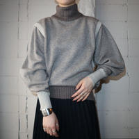 Volume Sleeve High Neck Sweater BR