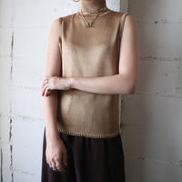 Mock Neck Sleeveless Design Knit GD