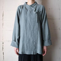 Asymmetric Design Linen Jacket GR
