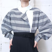 Stripe Layered Front Design Shirt WHGRBK