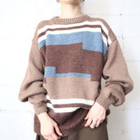 Panel × Line Design Sweater BRBL