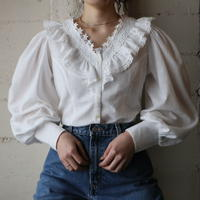 Volume Sleeve Lace Blouse WH